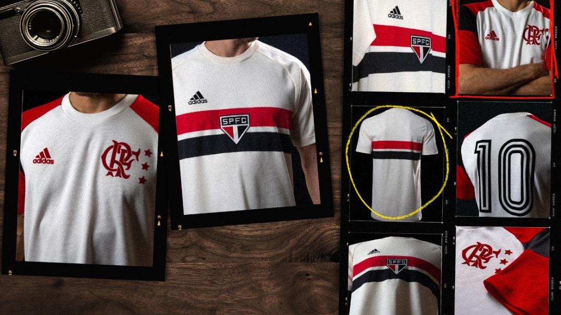 Adidas apresenta novas camisas retrô de Flamengo e São Paulo