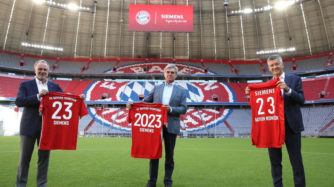 Bayern de Munique renova patrocínio com Siemens até 2023