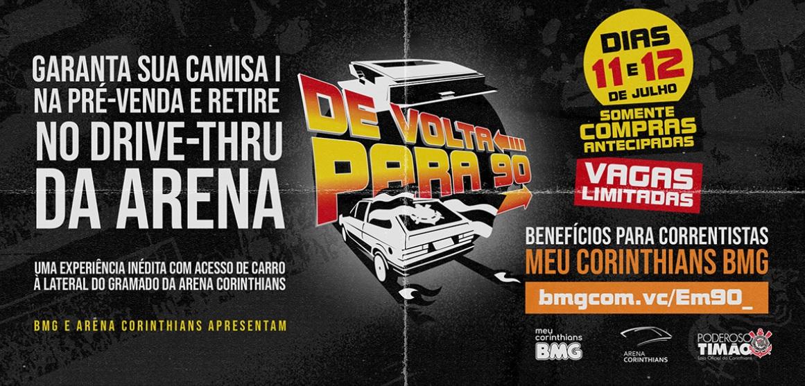 BMG fará ação de drive-thru para entregar camisa do Corinthians