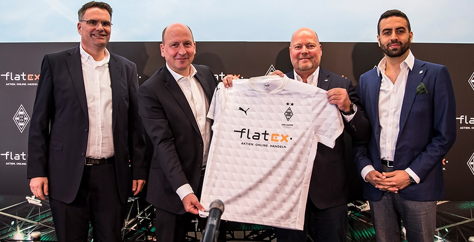 Borussia Mönchengladbach fecha patrocínio máster com Flatex