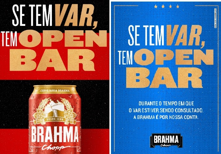"""Brahma cria """"Open VAR"""" e dará cervejas em Flamengo x Grêmio"""