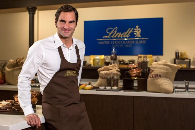 Lindt usa Federer mais uma vez em ação no mercado brasileiro