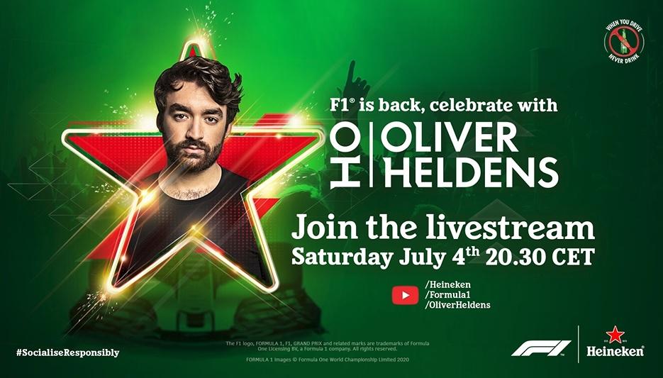 Heineken ativará patrocínio com show virtual em retorno da F1
