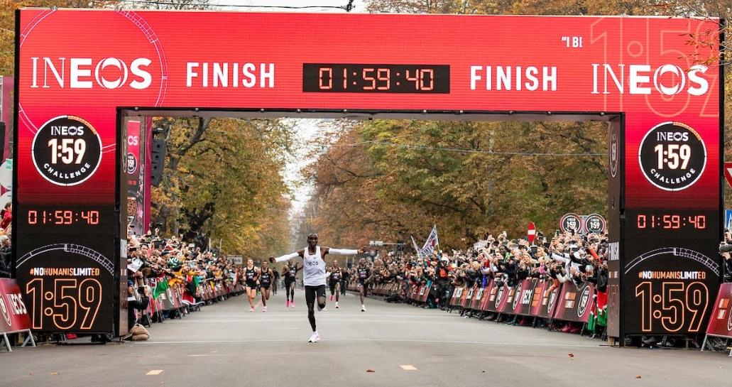 Recorde de Kipchoge na Maratona atrai 500 milhões pelo mundo