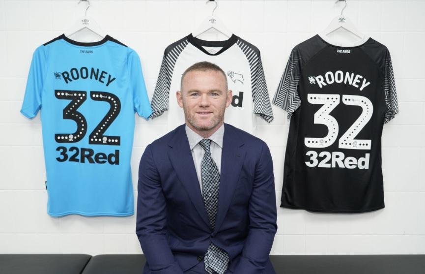 """Chegada de Rooney ao Derby County é """"jogada"""" de patrocinador"""